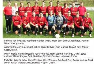 1. Mannschaft Beziksliga West 2006