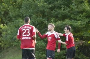 Glückwünsche zu Sven Baders 1:0