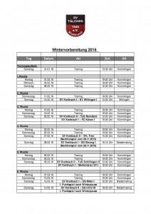 Vorbereitungsplan Winter  Saison 2015-2016