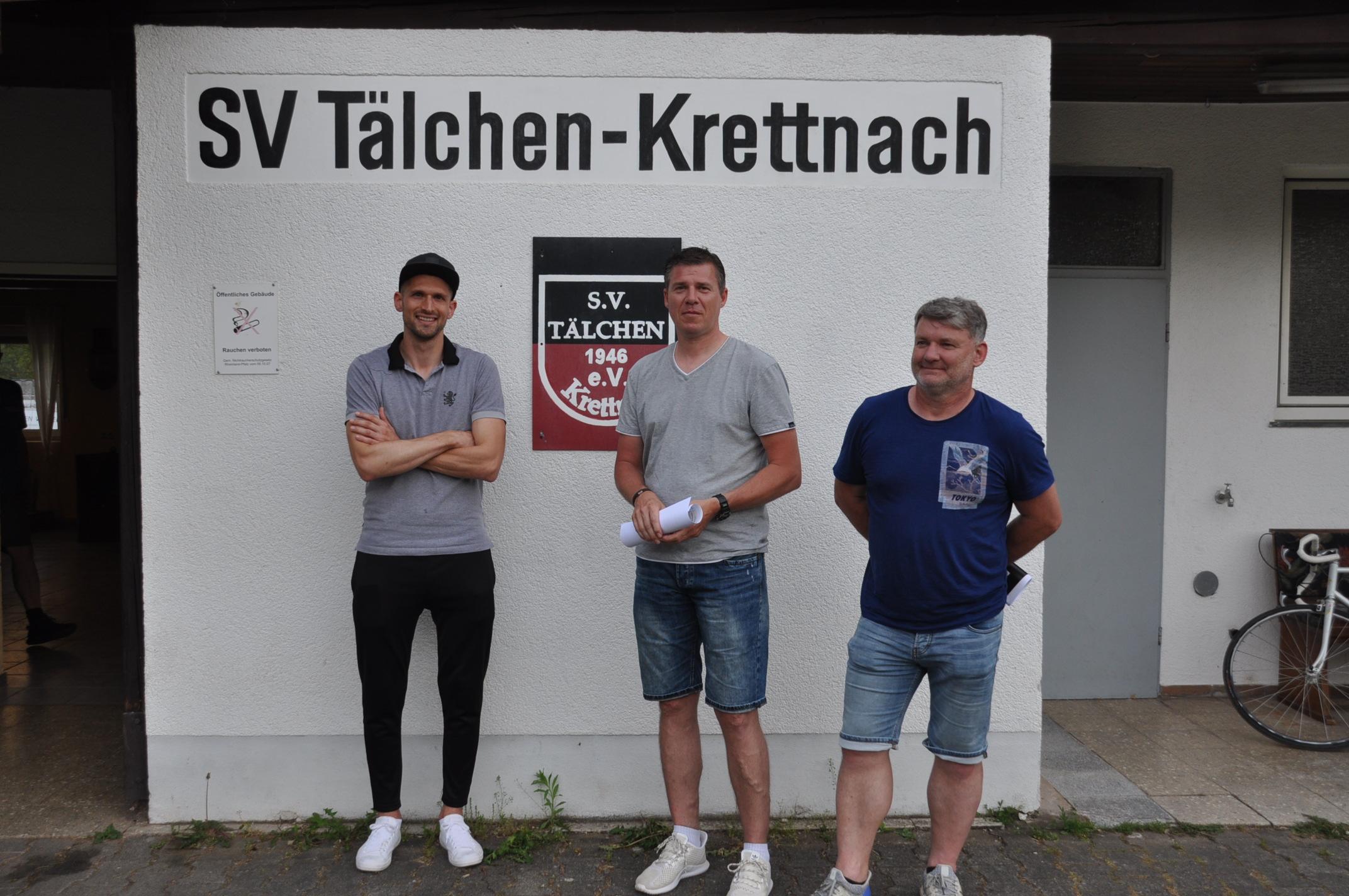 Drei Trainer unter sich: Fabian Schmidt, Dietmar Hürter und Ralph Kettermann